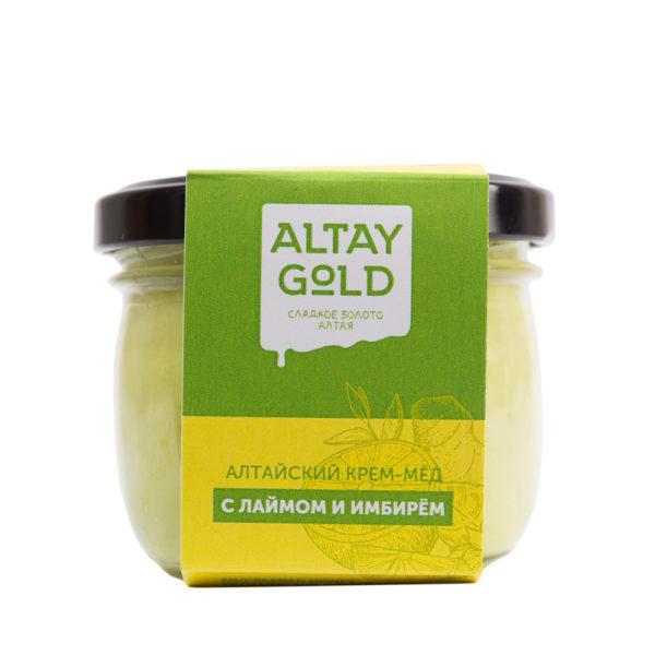 Крем мёд с лаймом и имбирём