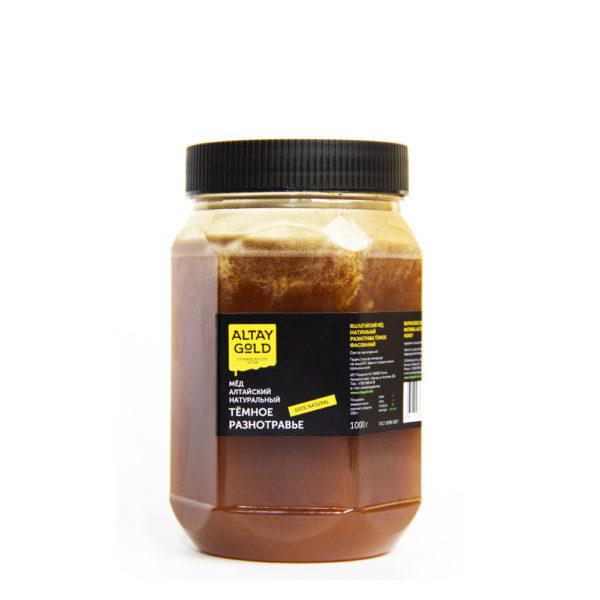 Мёд разнотравье тёмное